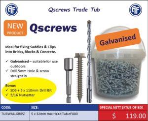 Qscrews Hex Head